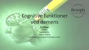 Kognitive funktioner ved demens