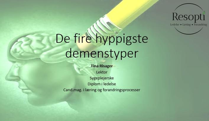 De fire hyppigste demenstyper
