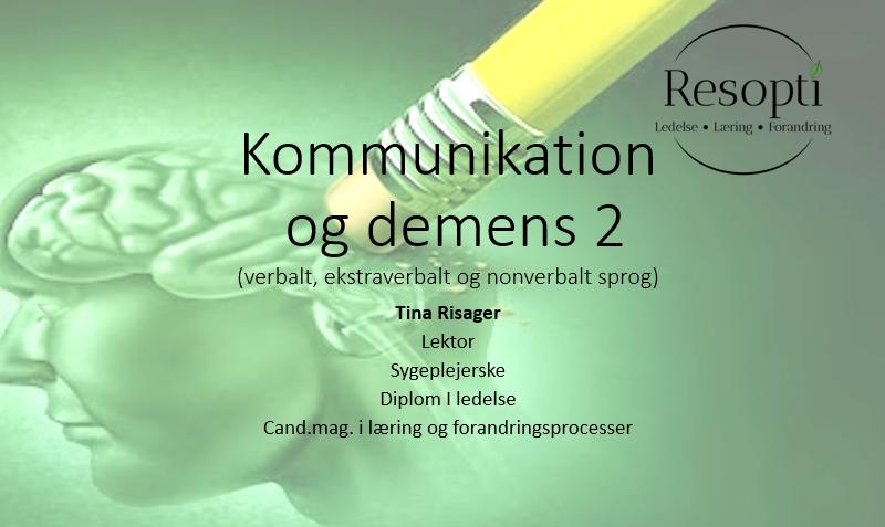 Kommunikation og demens 2